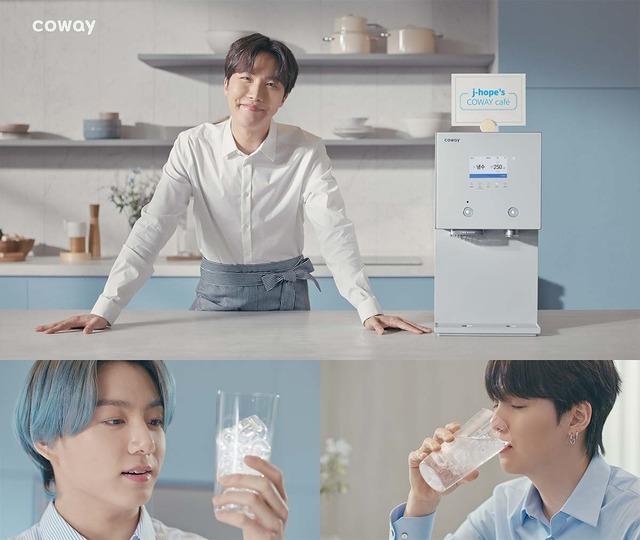 """코웨이, 방탄소년단 AIS 정수기 광고 공개 """"홈카페 에피소드 담아"""""""